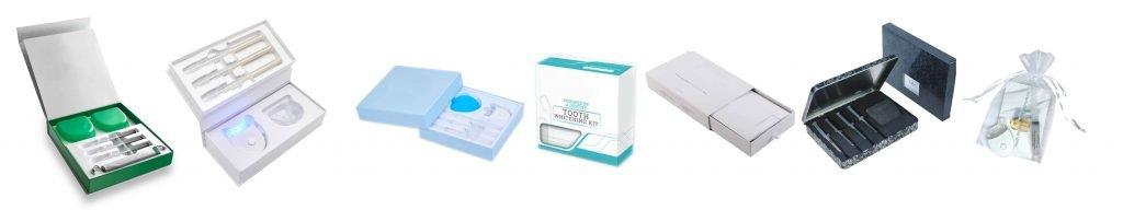 teeth whitening kit packaging