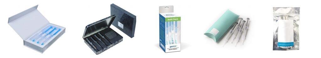 teeth whitening gel refill kit packaging